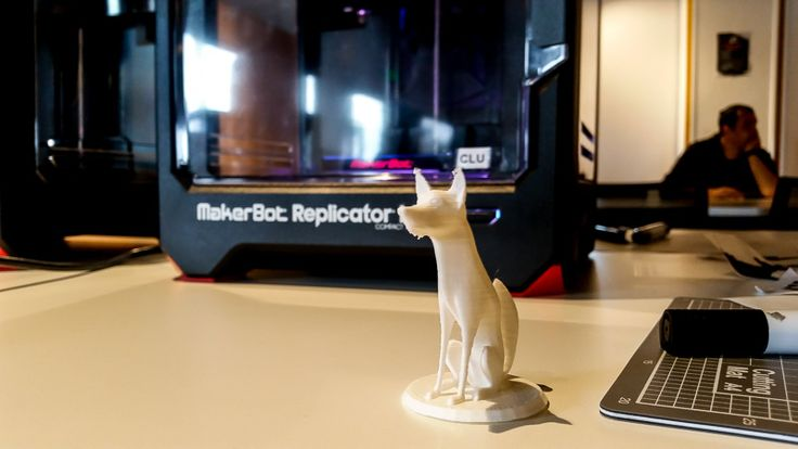 Dog figurine,  3D Printing Library at The Dock