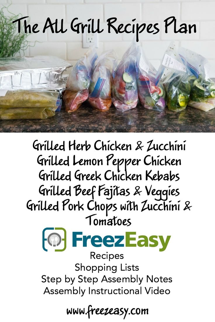 NEW! The All Grill Recipes Meal Plan from FreezEasy.com