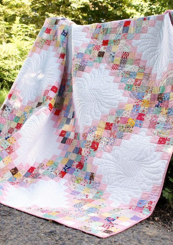 @ MessyJesse - a quilt blog by Jessie Fincham: The Finished Scrappy Irish Chain Quilt - Free Downloadable Pattern!