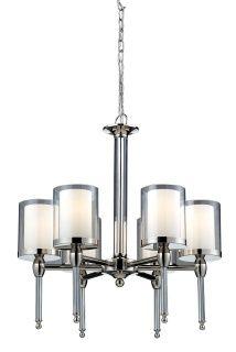 1908-6  #chandelier #lighting #chrome