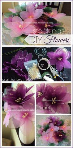 How to make nylon flower felwort