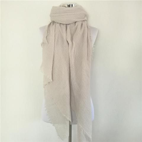 Solid Color Linen Cotton Winter/Autumn Scarves For Women - 20 colours beige   Scarves Women winter autumn fashion style products gift outfit accessories fall simple beautiful chic shops ideas  shop store sell buy online 2017 websites