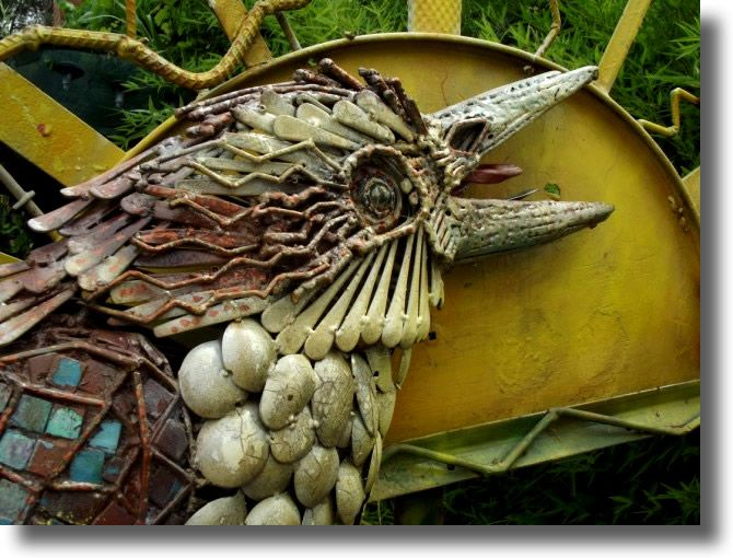 22 best images about brooksgate recycled art waste for Garden ornaments from recycled materials