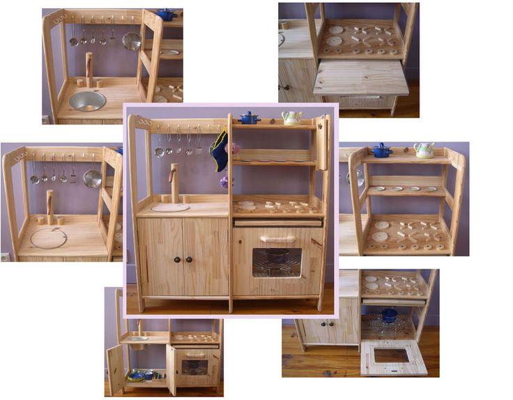 Fond jaune id es pour mes loulous pinterest - Fabriquer cuisine bois enfant ...