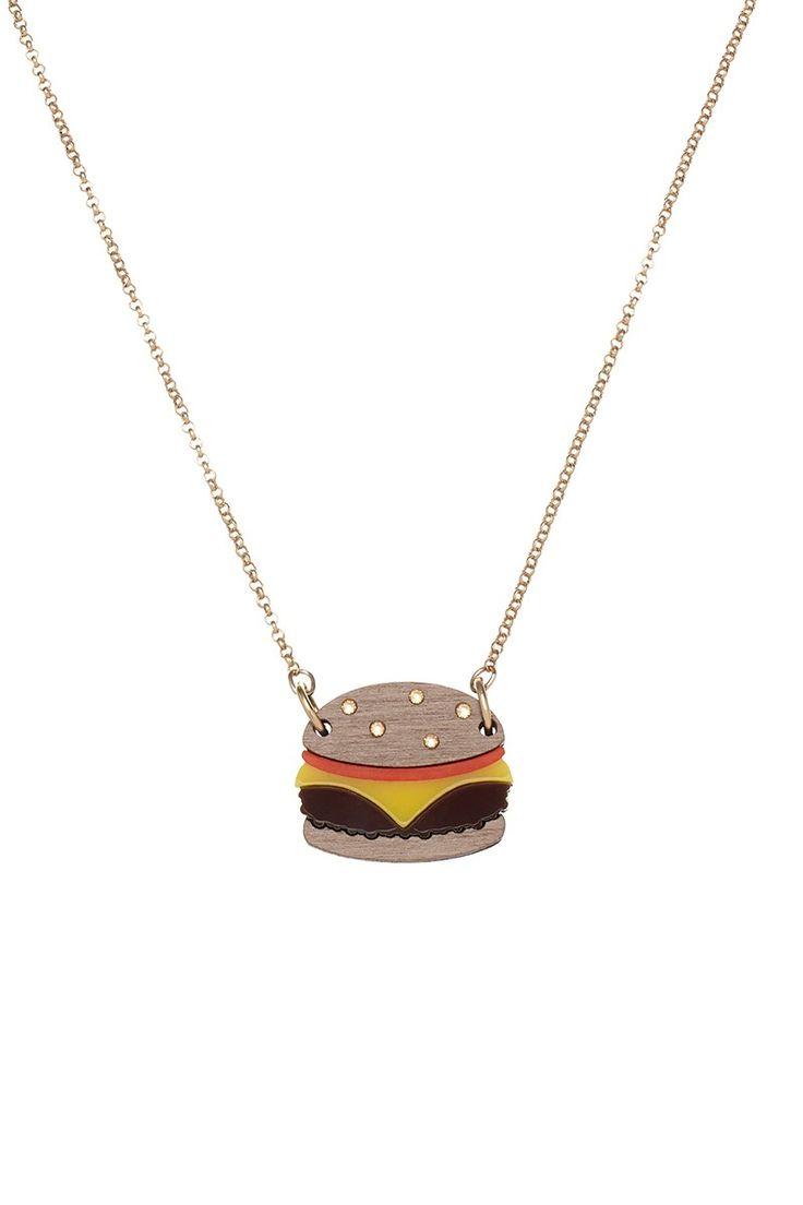 Cheeseburger Necklace, £30 http://www.tattydevine.com/shop/featured/new-in/cheeseburger-necklace.html