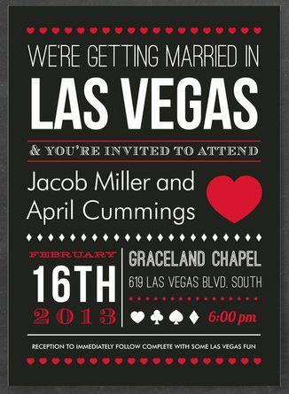 7 Unexpected Las Vegas Wedding Invitations