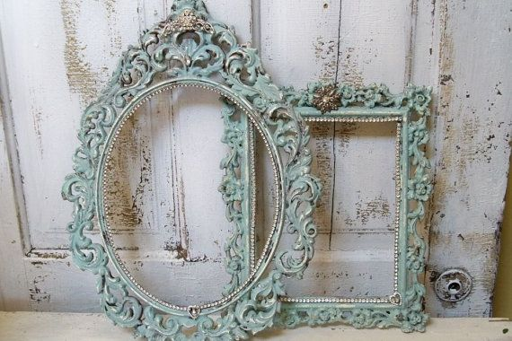 French blue picture frame grouping ornate by AnitaSperoDesign, $150.00
