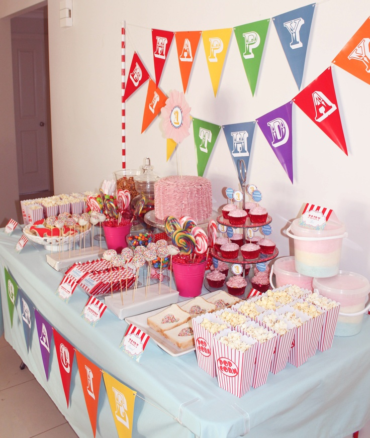 Birthday Party Buffet Table: 182 Best Candy Bar Buffet Ideas For Birthday Parties And