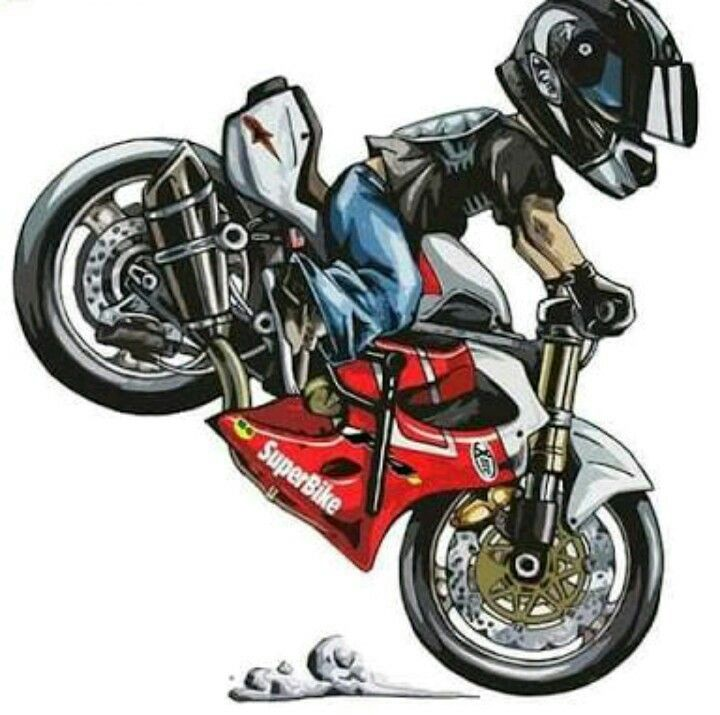how to draw a moto