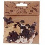 Confettis de décoration - Moustaches (150 par paquet)