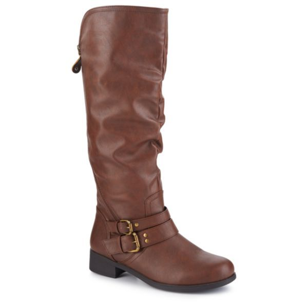 The Morgan women's tall wide calf boot from XOXO will get you through the cool-weather months in casual yet refined style