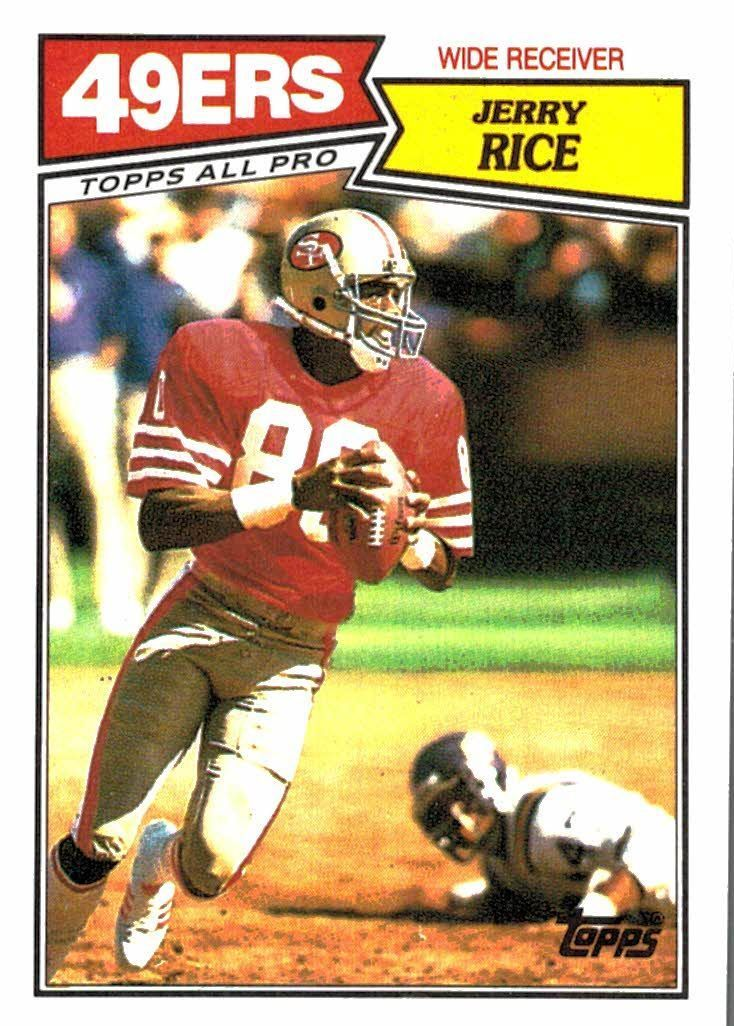 1987 topps jerry rice all pro san francisco 49ers