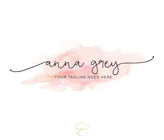Watercolor Logo Design Custom Logo Design Custom by PeachCreme                                                                                                                                                                                 More