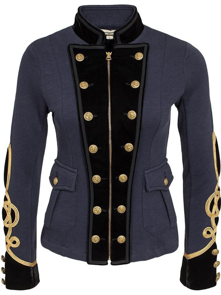 NEW Denim & Supply Ralph Lauren Cotton Military Officer's Jacket -WOMENS- L #RalphLauren #Military