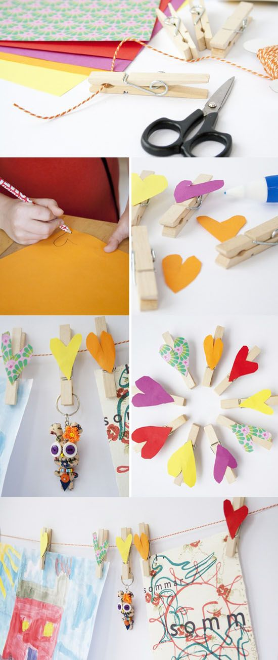 DIY for kids paper and butcher tine banner
