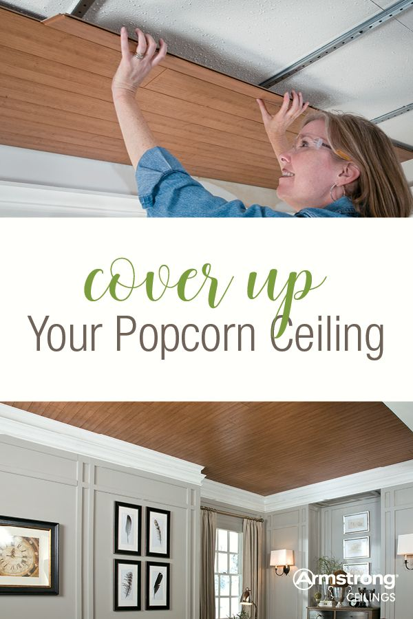 How do you get rid of a popcorn ceiling? Ugh! Who ever thought they were stylish in the first place? Well, it's easy to cover up and hide your popcorn ceiling with these ideas and hacks from the experts at Armstrong Ceilings for the Home!