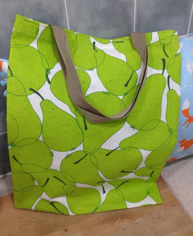 Pear shopping bag. IKEA fabric
