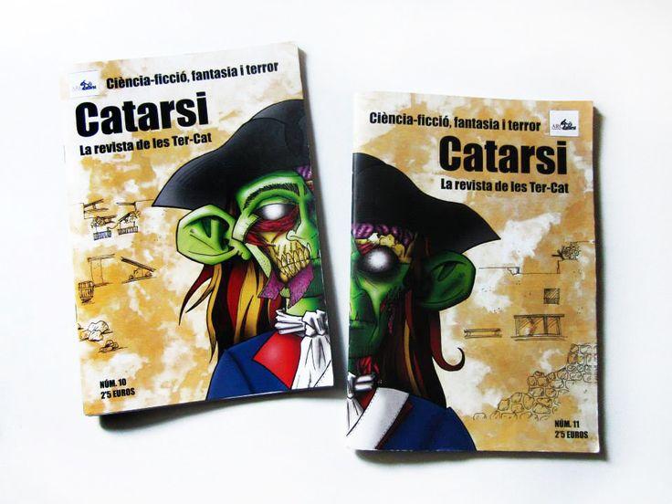 Diseño de la portada doble de los números 10 y 11 de la revista Catarsi.  Marzo 2013.