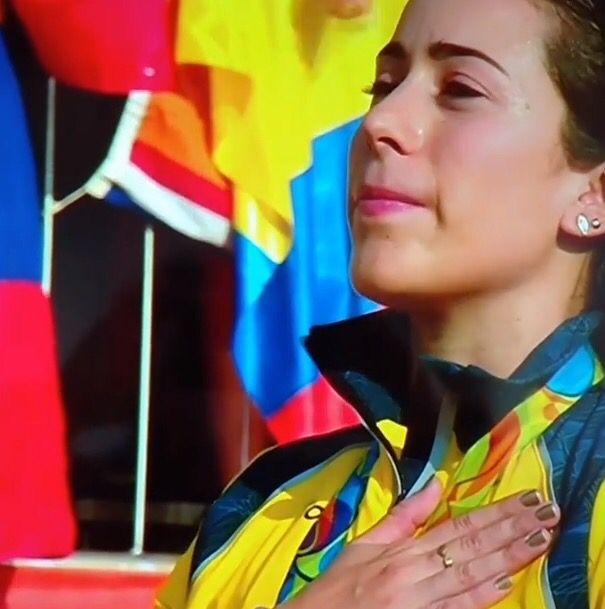 Felicitaciones @marianapajon , eres un ejemplo para los Colombianos. Muy merecida tu segunda medalla de Oro en #BMX   en @rio2016_es #JuegosOlimpicos   #Rio2016  #gnostika_co 🚴🏽🇨🇴🇨🇴