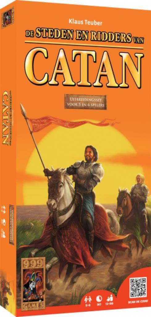 Steden & Ridders voor 5 of 6 spelers en nu verkrijgbaar in een doos.  http://www.planethappy.nl/999-games-de-kolonisten-van-catan-steden-ridders-5.html