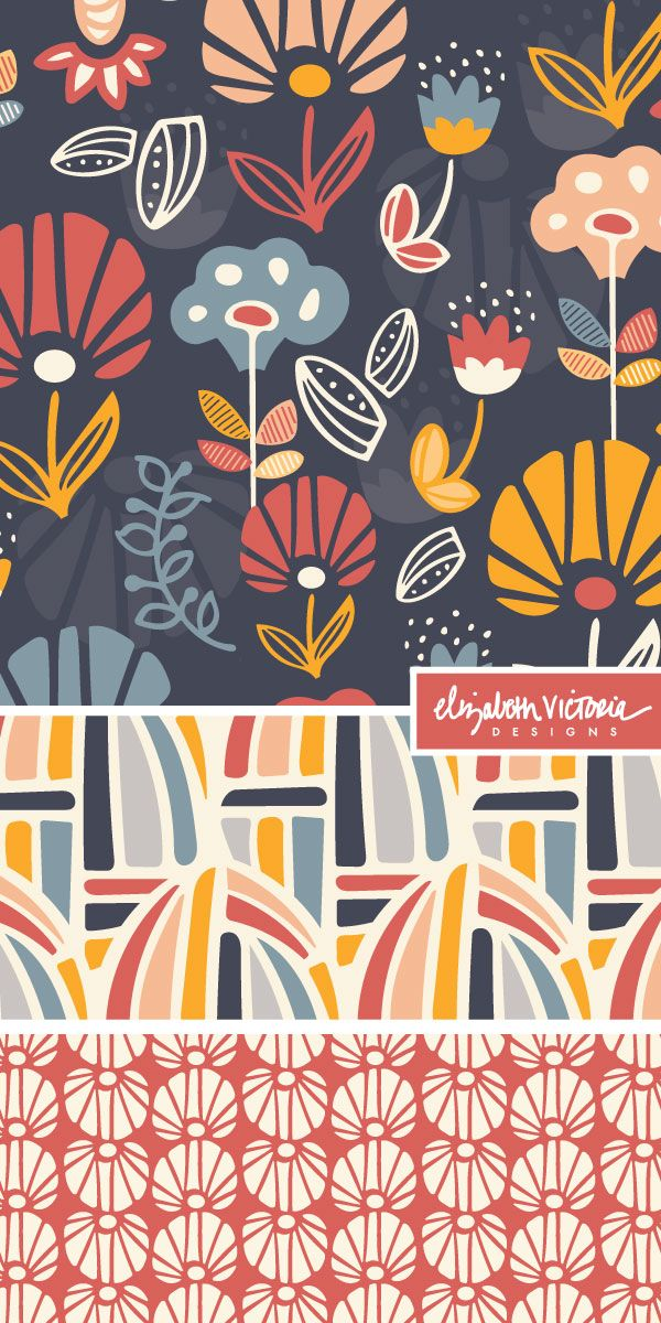 Kaleidoscope Collection // Surface Pattern Design by Beth Schneider - Elizabeth Victoria Designs