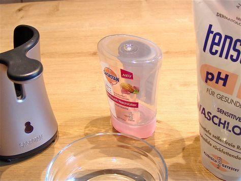 Was tun, wenn man eine Flüssigseife beim Sagrotan No-Touch nachfüllen will, die es nicht als Kartusche zu kaufen gibt?