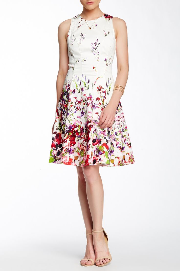Maggy london floral lace sheath dress
