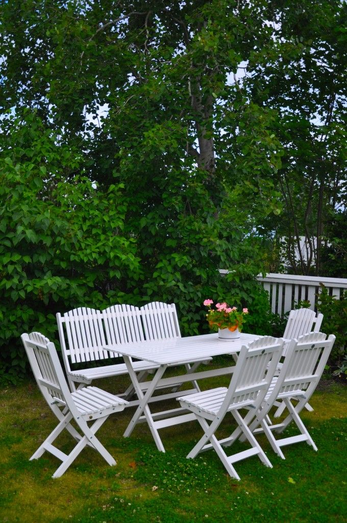 Linda Lindorffs blogg » Mina nya snygga trädgårdsmöbler