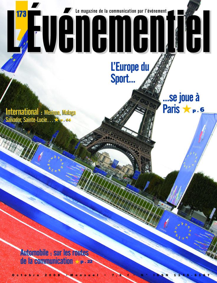 L'ÉVÉNEMENTIEL n°173 (octobre 2008) : L'Europe du Sport se joue à Paris !