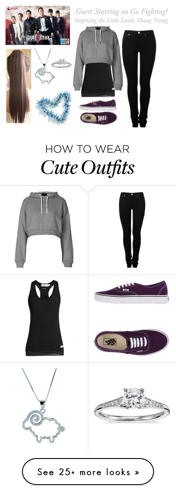 """""""My Heart is Never Not with You (Zhang Yixing Love Story) Outfit #1"""" by lola-twfanmily on Polyvore featuring MM6 Maison Margiela, adidas, Blue Nile, Topshop, Vans and Metal Mixology"""