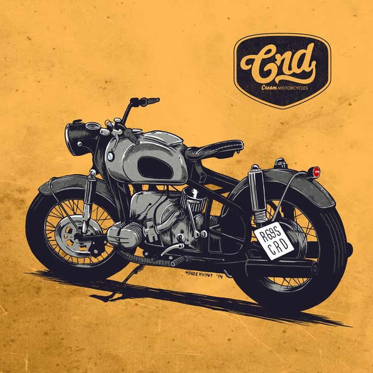 BMW R69S Cafe Racer Dreams @menze kwint #illustrations #motorcycles | caferacerpasion.com