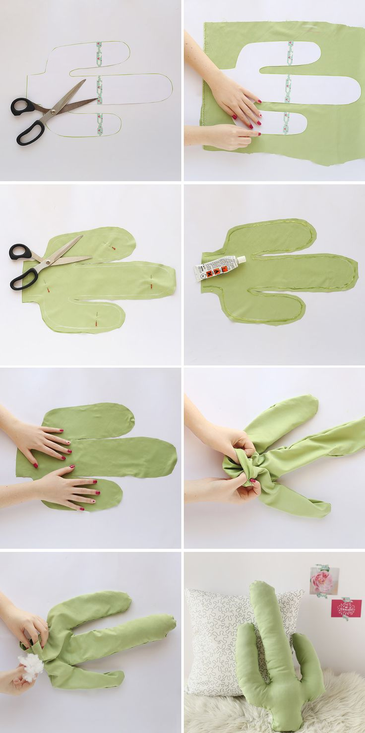 DIY: cactus pillow