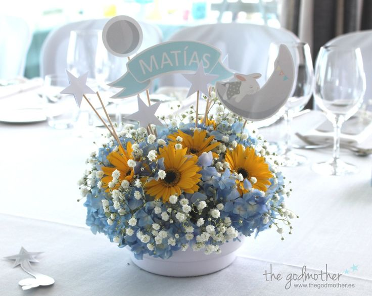 mesa dulce bautizo- candy bar bautizo- mesa dulce personalizada- mesa dulce azul y amarilla 3