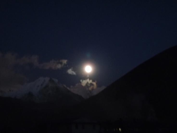 Dingboche moonlight