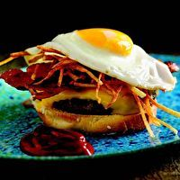 Breakfast Burger by Bobby Flay | Burgers | Pinterest