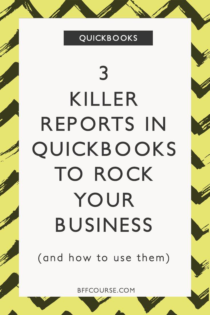 Quickbooks   Small Business   Reports   Financial Organization via @BFF course   Freelance Finance + Money Love