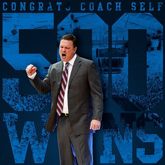 Bill Self's 500th win on Feb 25, 2013 vs Iowa State