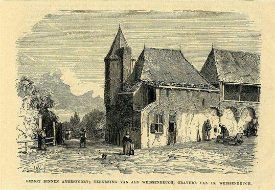 De binnenzijde van de Koppelpoort te Amersfoort... J. weissenbruch. 01/01/1850 - 31/12/1860