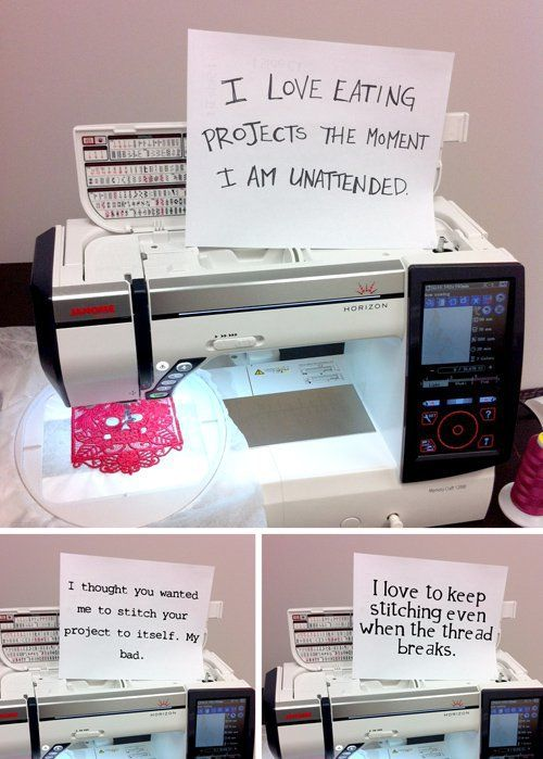 We've laughed and cried along with the dog shaming meme that's working its way around the internet, but Niamh from StitchPunk takes it to a whole new level of hilarity with her sewing machine shaming post!