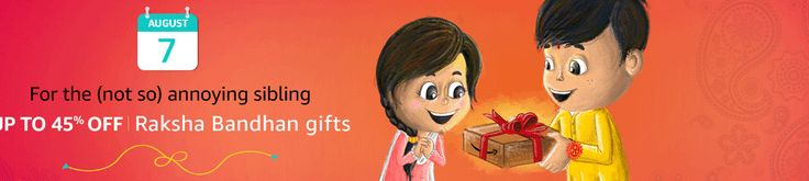 Raksha Bandhan Gifts    Celebrate Rakhi with exclusive Offers    Unbelievable Deals  Amazon India Presents  Raksha Bandhan Gifts  Celebrate Rakhi with exclusive Offers  Checkout at -http://clnk.in/e4jI  Also check earlier posts related to Rakhi Gifts  Let