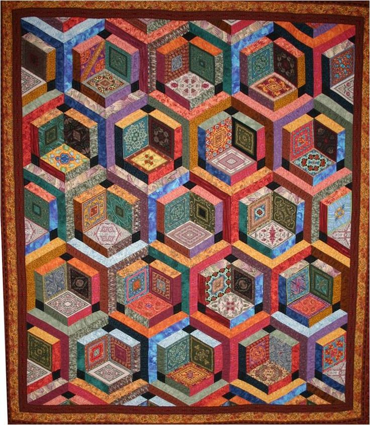 California Quilting Friends by Lorie Mitteer Roswell, pattern by Jinny Beyer. 2011 Ogallala Quilters Guild show.