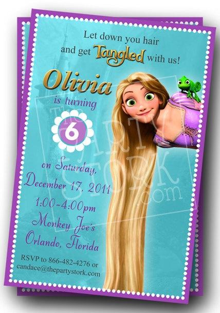Girls Custom Tangled Birthday Invitations by thepartystork on Etsy, $11.00.       So cute!