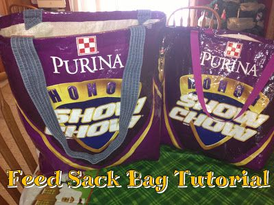 Fabulous & Fun Feed Sack Bag Tutorial