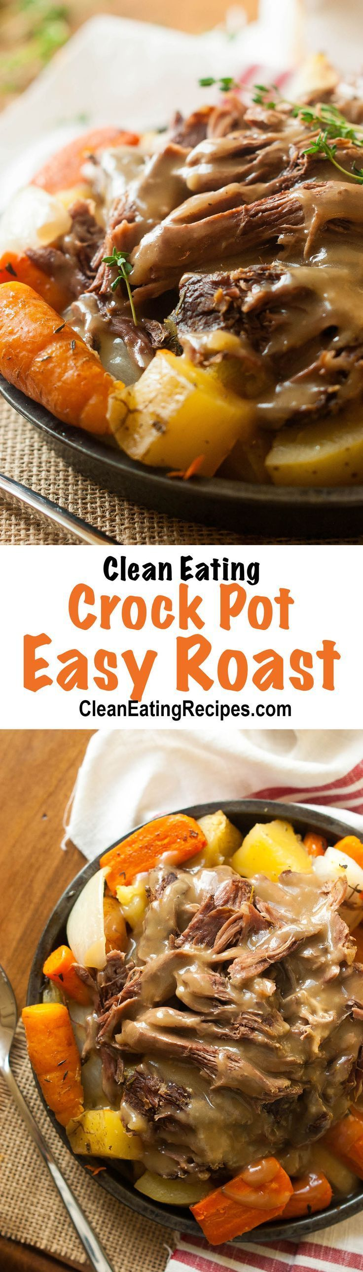 This crock pot roast is so easy and turned out so good! I'm pinning this so I can make it all the time. (Healthy Recipes Crock Pot)