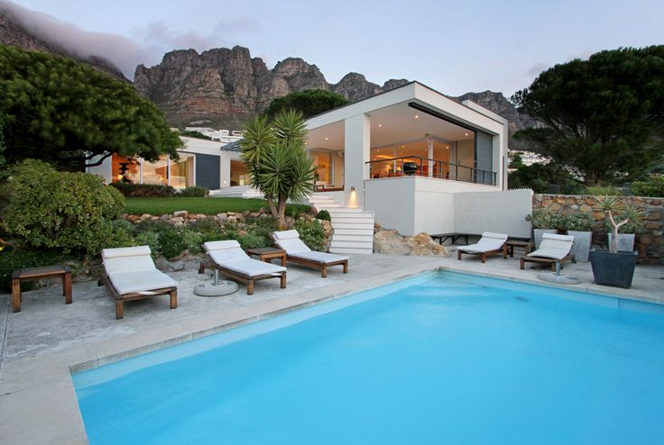 Gryphon House, Camps Bay, Cape Town - Perfect for outdoor summer living, idyllic retreat for families & friends looking for a private Camps Bay experience. #SouthAfrica #Villa #Capetown