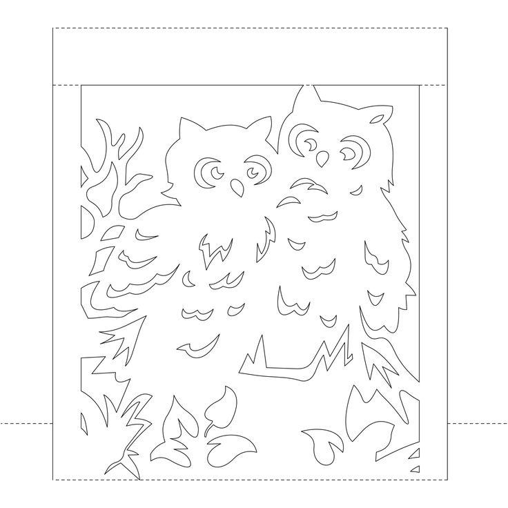 Всплывающие карточки с совами | Mashustic.com
