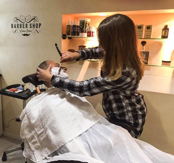 Barber Virginie at work for #ericzemmourmonacoII #barbershop #monaco #barber #top #montecarlo