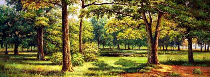 Картины (живопись) : Лес (Лето). Автор Сергей Владимирович Минаев