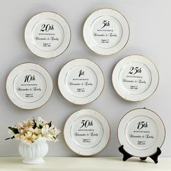 your very own personalized anniversary plate great for your 18th anniversary as on the modern 40th anniversary giftsmarriage