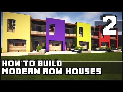 Minecraft House - How to Build : Modern Row Houses - Part 2 - YouTube